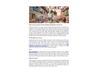 Major Advances Features Of Gaur Saundaryam High Street Commercial