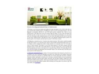 Overview of Ats Rhapsody Residential Project At Noida Extension