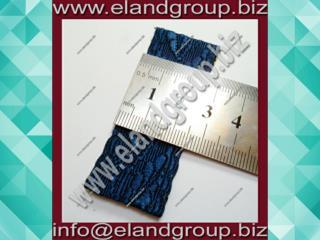 Oak Leaf - Dark Blue Rayon Lace
