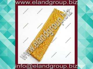 Oak Leaf - Gold Mylar Army Lace