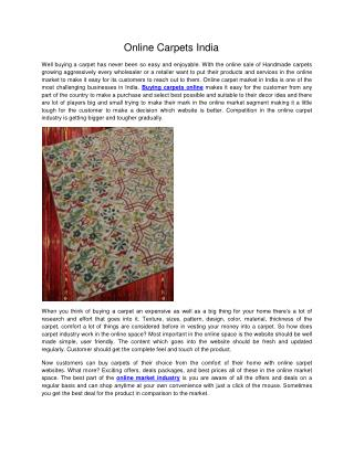 Online Carpets India