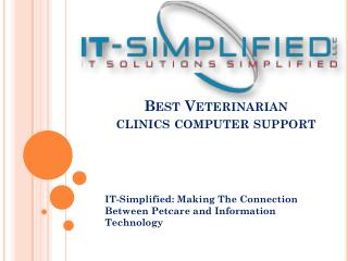 Vet clinic network support
