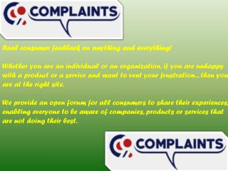 99 Is A Organization Provide An Open Forum for All Consumers Complaints