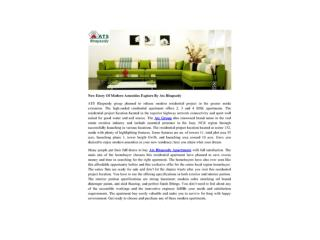 New Entry Of Modern Amenities Explore By Ats Rhapsody