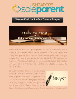 How to Find the Perfect Divorce Lawyer