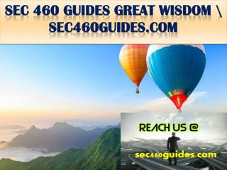 SEC 460 GUIDES GREAT WISDOM \ sec460guides.com