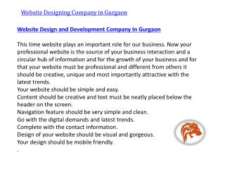Website design and development company in gurgaon