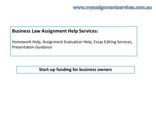 Are you looking for Business Law Assignment Help Services