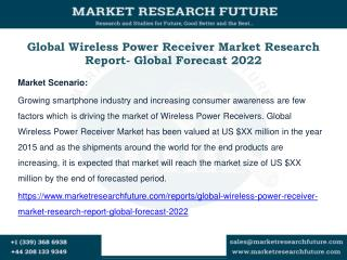 Global Wireless Power Receiver Market Research Report- Global Forecast 2022
