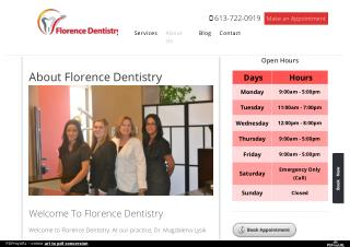 About Florence Dentistry Ottawa