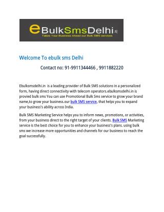 Bulk sms service provider company in delhi