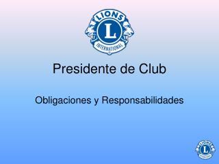 Presidente de Club
