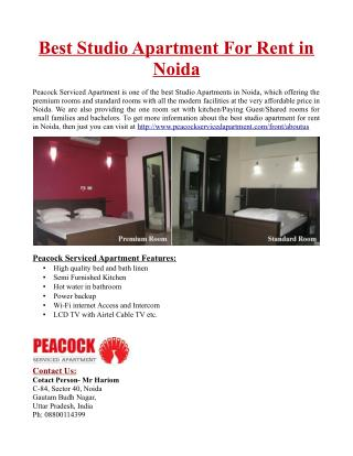Best Studio Apartments For Rent in Noida
