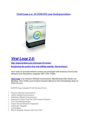Viral Loop 2.0 review and (MEGA) bonuses – Viral Loop 2.0