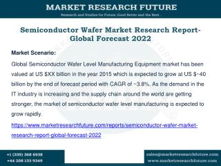 Semiconductor Wafer Market Research Report- Global Forecast 2022