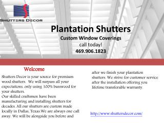 Best Plantation Shutters In Dallas