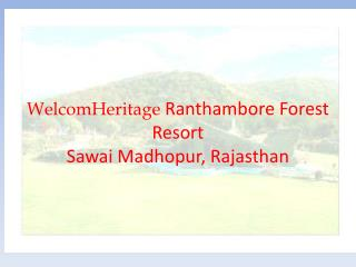 WelcomHeritage Ranthambhore Forest Resort - A Nature resort in Manali