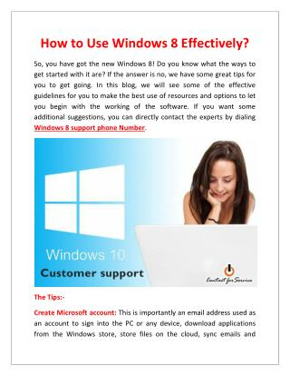 How to Use Windows 8 Effectively