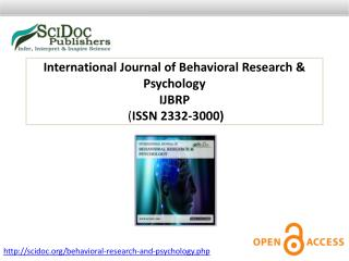 International Journal of Behavioral Research & Psychology ISSN 2332-3000
