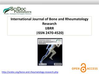 International Journal of Bone and Rheumatology Research ISSN 2470-4520
