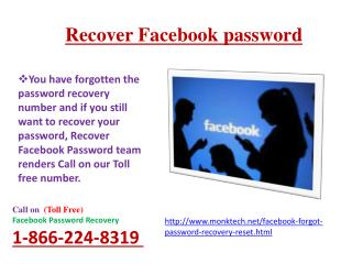 forgot my Facebook password? dial 1-866-224-8319 Service Is No Doubt Beneficial