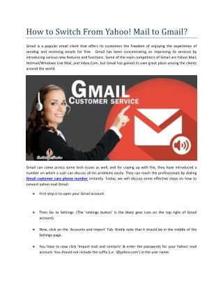 How to Switch From Yahoo! Mail to Gmail?