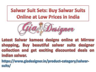 Salwar Suit Sets: Buy Salwar Suits Online at Low Prices in India