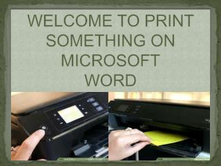 how do you print something on microsoft word