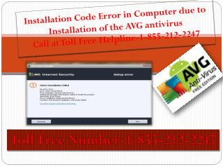 AVG installation Error 1-855-212-2247 AVG Customer Support Number