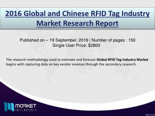 RFID Tag Industry: the US is one of the major market for RFID applications and sales in future