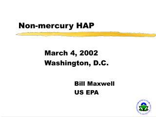 Non-mercury HAP