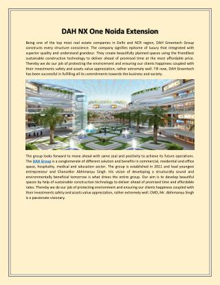 Dah nx one noida extension