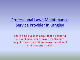Lawn maintenance Langley