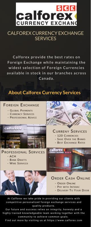 Calforex Currency Exchange Services - Canada's Best Foreign Exchange Service