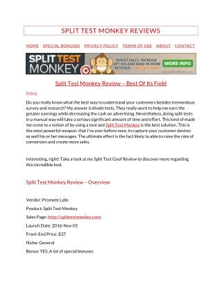 Split Test Monkey Review