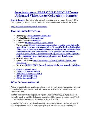 Icon Animate Review & Icon Animate $16,700 bonuses
