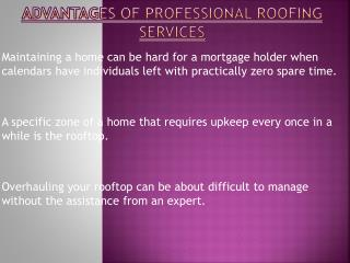 Professional Roofing Services Benefits