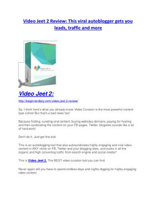 Video Jeet 2 REVIEW - DEMO of Video Jeet 2