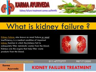 kidney failure treatment