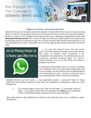 Whatsapp Marketing Sarawak