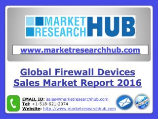 Global Firewall Devices Sales Market Report 2021