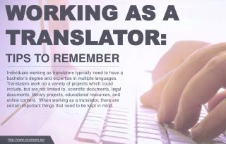 Information that should be kept in mind by translators