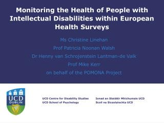 Monitoring the Health of People with Intellectual Disabilities within European Health Surveys