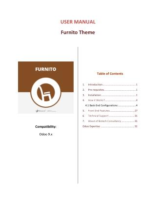 Odoo Furnito Ecommerce Theme, Responsive OpenERP Furniture Theme