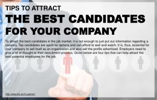 Tips to help businesses attract superior candidates for jobs