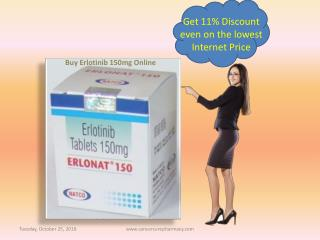 Get 11% Discount on Erlotinib 150mg