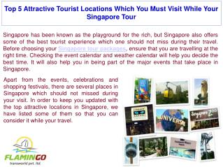 5 Places You Should Visit During Singapore Tour | Flamingo