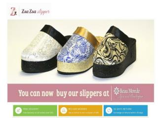 Buy luxurious womens slipper kansas at zsazsaslipper.com