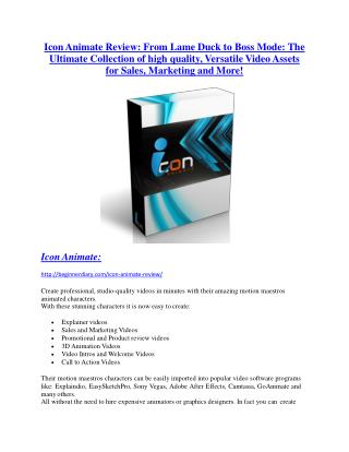 Icon Animate Reviews and Bonuses-- Icon Animate