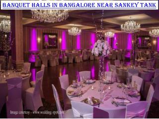 Banquet halls in Bangalore near Sankey tank